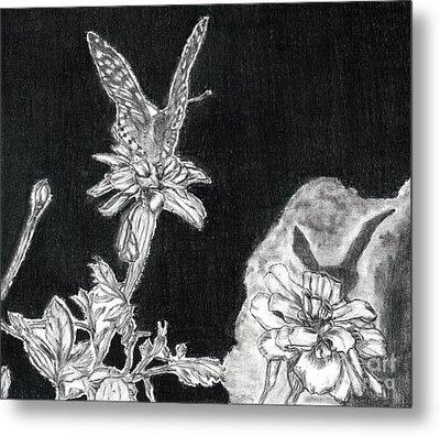 In The Shadow Of His Wings Metal Print by Joy Neasley