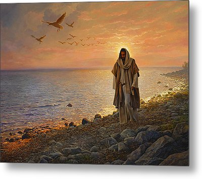 In The World Not Of The World Metal Print by Greg Olsen