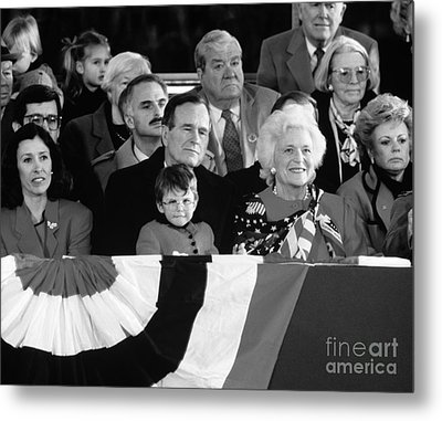 Inauguration Of George Bush Sr Metal Print by H. Armstrong Roberts/ClassicStock