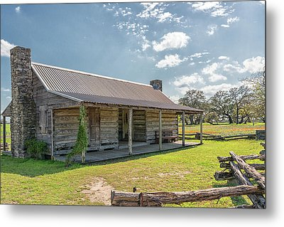 Independence Texas Cabin Metal Print by Victor Culpepper