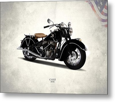Indian Chief 1946 Metal Print by Mark Rogan