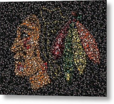 Indian Hockey Puck Mosaic Metal Print by Paul Van Scott