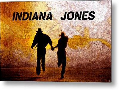 Indiana Jones Poster Work A Metal Print by David Lee Thompson