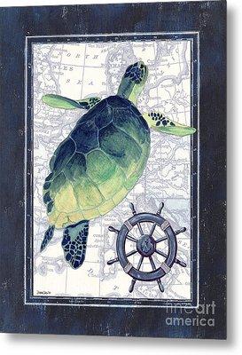 Indigo Maritime 1 Metal Print by Debbie DeWitt