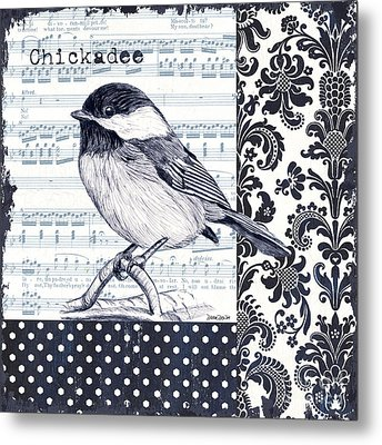 Indigo Vintage Songbird 2 Metal Print by Debbie DeWitt