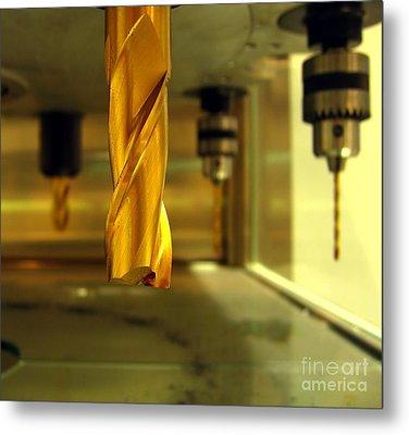 Industrial Drilling Machine Metal Print by Yali Shi