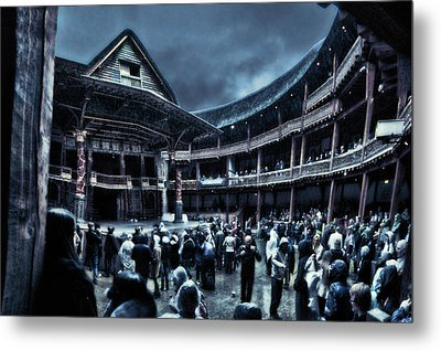Inside Shakespeare's Globe Metal Print by Rich Beer