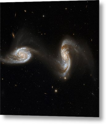 Interacting Galaxies Ngc 5257 And 5258 Metal Print by Stsciaurahubble Collaborationa. Evans (university Of Virginia, Charlottesville;nrao;stony Brook University)nasa