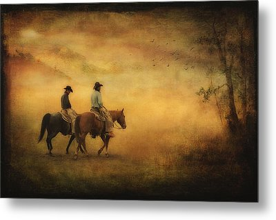 Into The Mist Metal Print by Priscilla Burgers