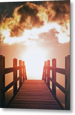 Into The Sun Metal Print by Wim Lanclus