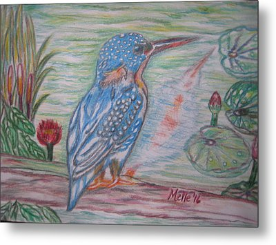 Into The Tropics The Philippine Kingfisher  Metal Print by Carmela Maglasang