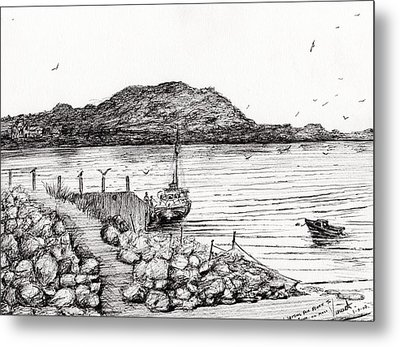 Iona From Mull Metal Print by Vincent Alexander Booth