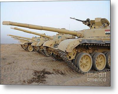 Iraqi T-72 Tanks From Iraqi Army Metal Print by Stocktrek Images