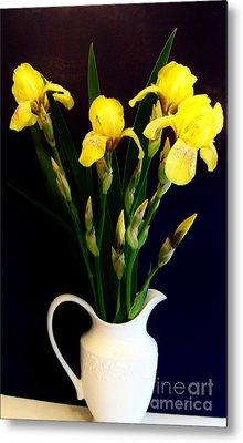 Iris Bouquet Metal Print by Marsha Heiken