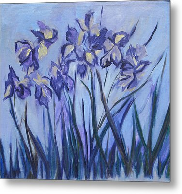 Iris Painting Two Metal Print by Betty Pieper