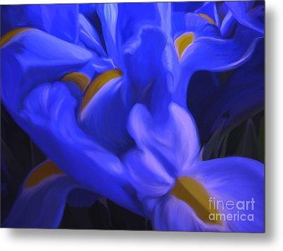 Iris Sparkle Metal Print by Roxy Riou