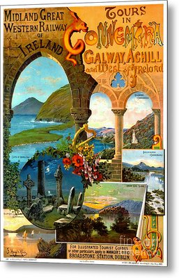 Irish Railway Tour Poster 1900 Metal Print by Padre Art