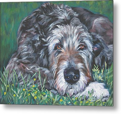 Irish Wolfhound Metal Print by Lee Ann Shepard