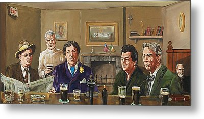 Irish Writers' Metal Print by Robert Teeling