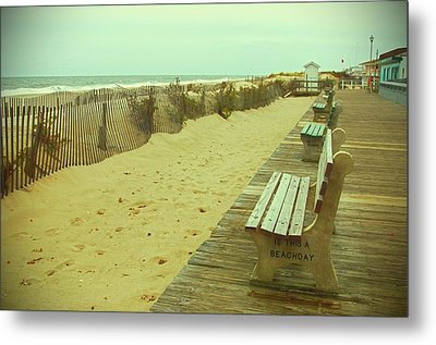 Is This A Beach Day - Jersey Shore Metal Print by Angie Tirado