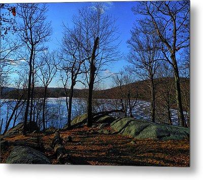 Island Pond In Harriman State Park Along The Appalachian Trail Metal Print by Raymond Salani III