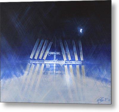 ISS Metal Print by Simon Kregar
