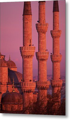 Istanbul, Turkey, Blue Mosque Metal Print by Grant Faint