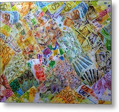 It's Just Money I Metal Print by John  Nolan