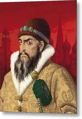 Ivan The Terrible Metal Print by English School