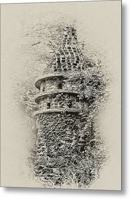 Ivy Covered Castle In The Woods Metal Print by Bill Cannon