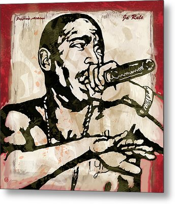 Ja Rule Pop Stylised Art Sketch Poster Metal Print by Kim Wang