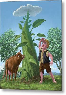 Jack And The Beanstalk Metal Print by Martin Davey