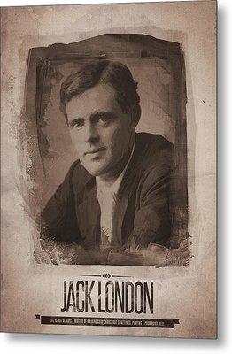 Jack London Metal Print by Afterdarkness
