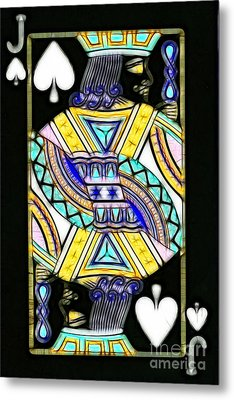Jack Of Spades - V2 Metal Print by Wingsdomain Art and Photography
