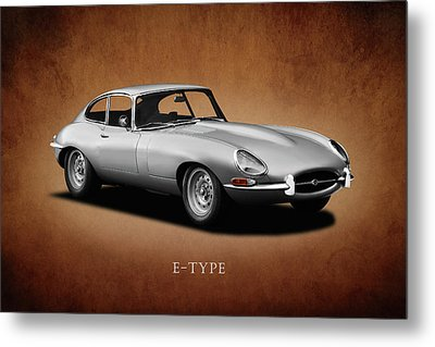 Jaguar E-type Series 1 Metal Print by Mark Rogan