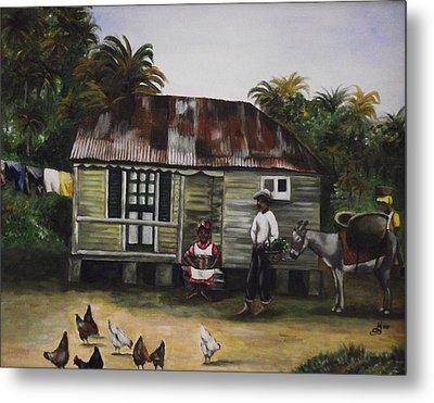 Jamaican Homestead Metal Print by Kim Selig