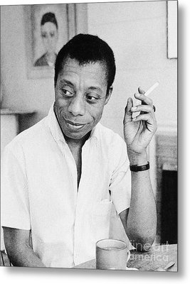 James Baldwin (1924-1987) Metal Print by Granger
