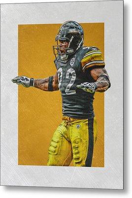 James Harrison Pittsburgh Steelers Art 2 Metal Print by Joe Hamilton