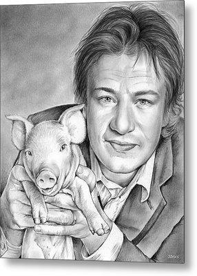 Jamie Oliver Metal Print by Greg Joens