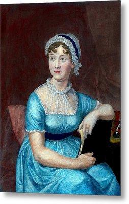 Jane Austen 1775-1817 English Novelist Metal Print by Everett