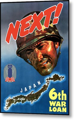 Japan Next World War 2 Poster Metal Print by War Is Hell Store
