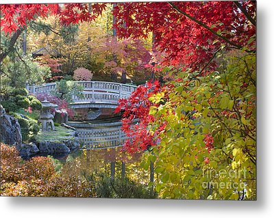 Japanese Gardens Metal Print by Idaho Scenic Images Linda Lantzy