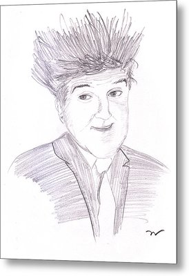 Jay Leno Hair Day Metal Print by M Valeriano