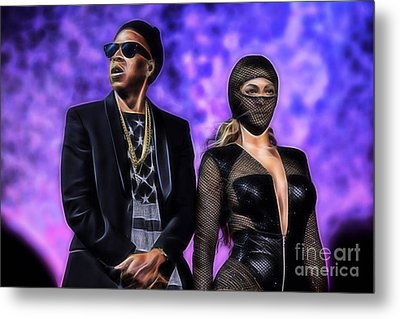Jay Z And Beyonce Collection Metal Print by Marvin Blaine