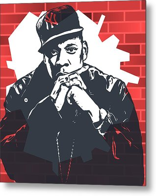 Jay Z Graffiti Tribute Metal Print by Dan Sproul