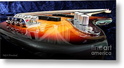 Jazz Bass Beauty Metal Print by Todd A Blanchard