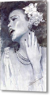 Jazz Billie Holiday Metal Print by Yuriy  Shevchuk
