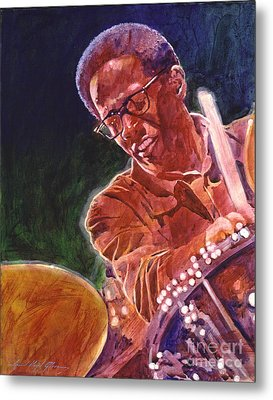 Jazz Drummer Brian Blades Metal Print by David Lloyd Glover