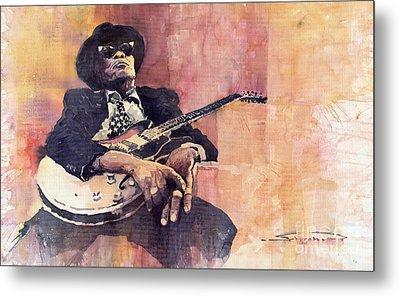 Jazz John Lee Hooker Metal Print by Yuriy  Shevchuk