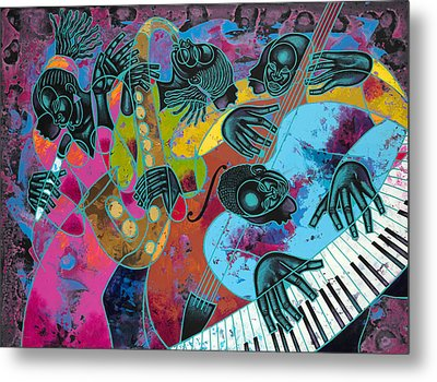 Jazz On Ogontz Ave. Metal Print by Larry Poncho Brown